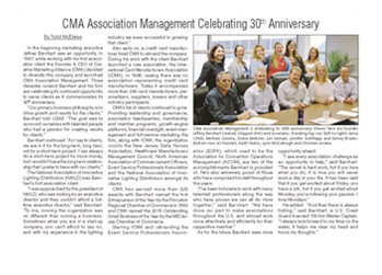 Read about CMA's 30th Anniversary in USAE